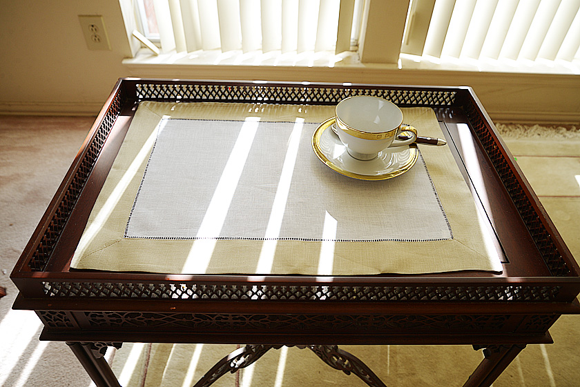 Hemstitch Placemat Marzipan Cookie color border