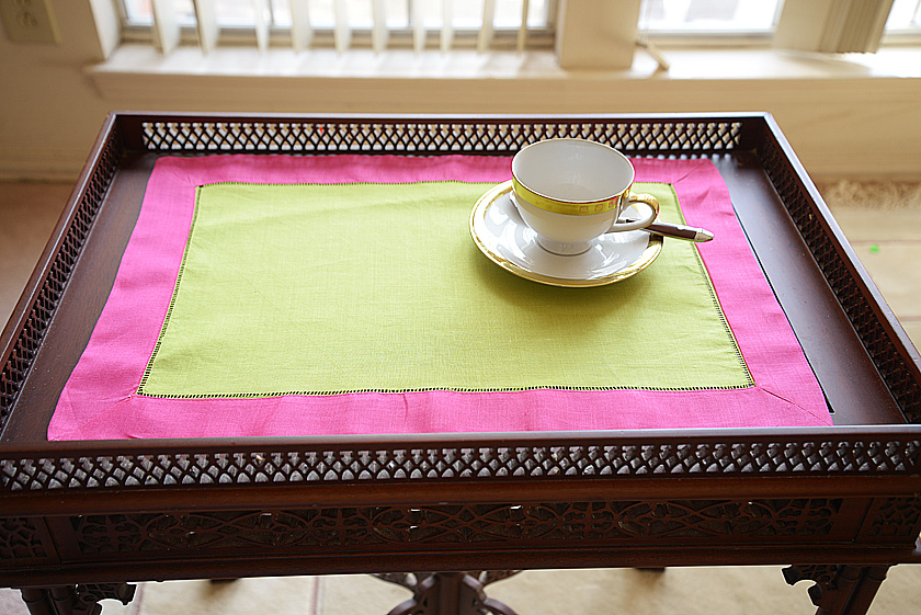 Lime Punch & Pink Peacock multi color placemat