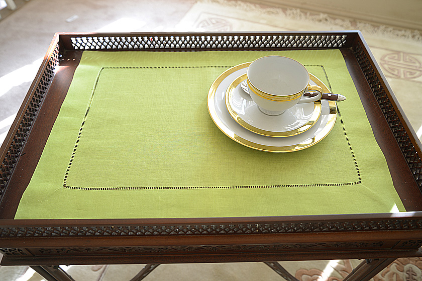 Lime Punch color hemstitch placemat