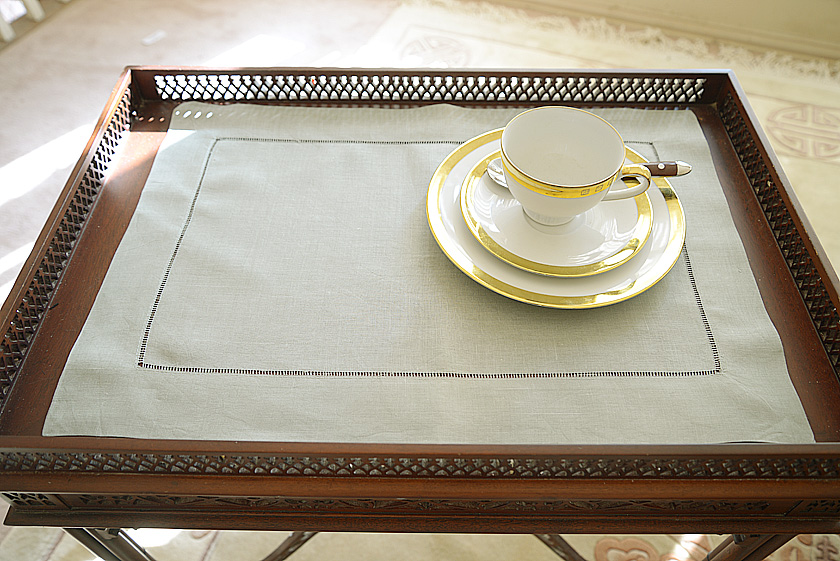 Slate Gray hemsttich placemat