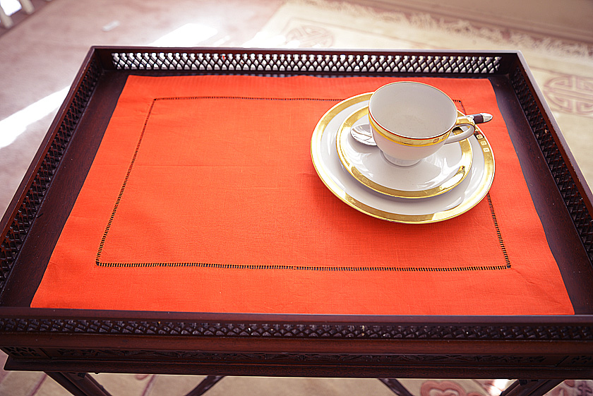 Exetic Orange colored placemat
