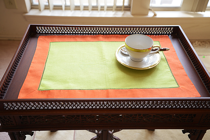 Lime Punch Green & Exotic Orange multi color placemat