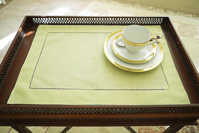 mellow green Hemstitch Placemat