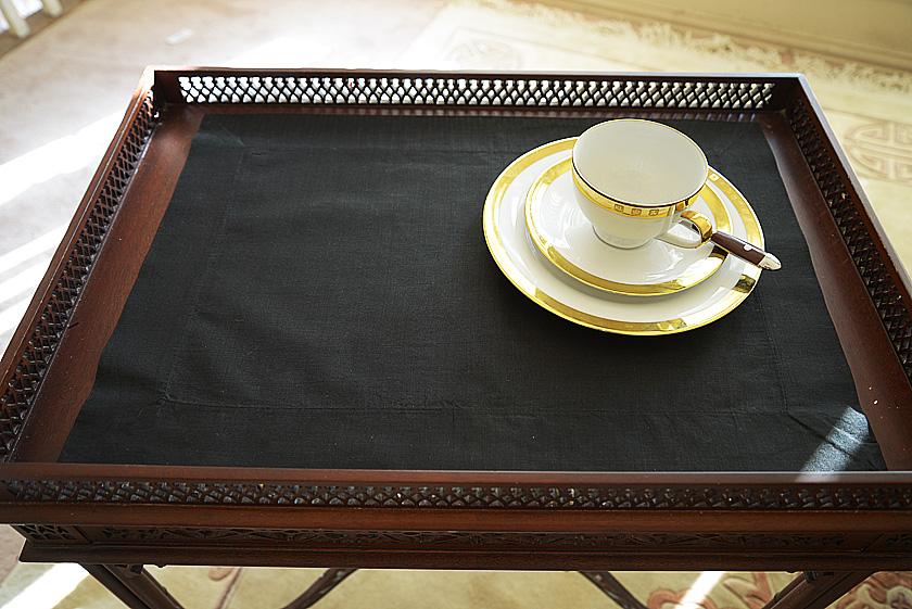 Plain Place Mat. Black colored
