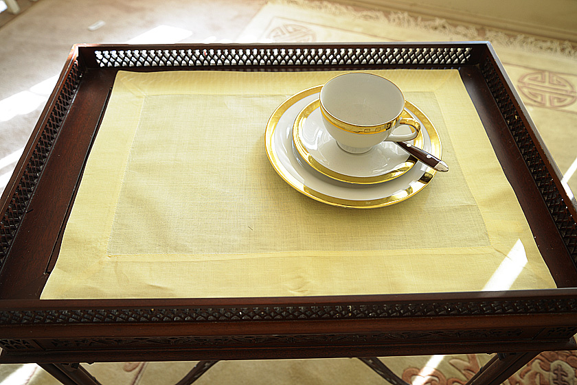 Plain Placemat. Yellow Pear colored