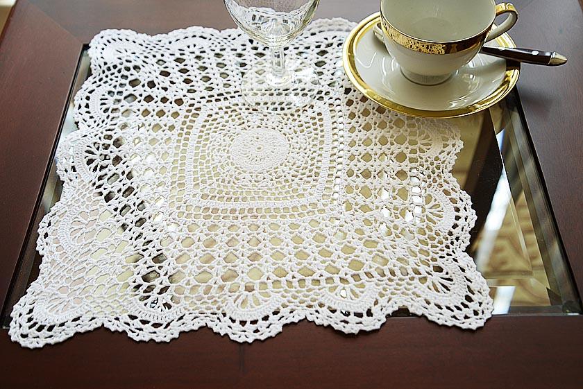 crochet square placemat